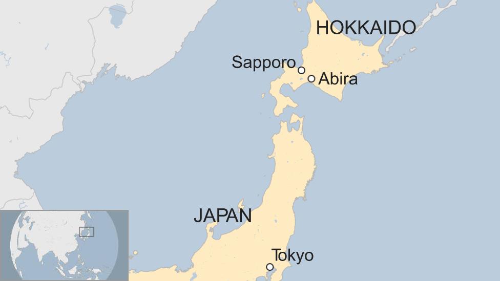 Map of Japan and Hokkaido