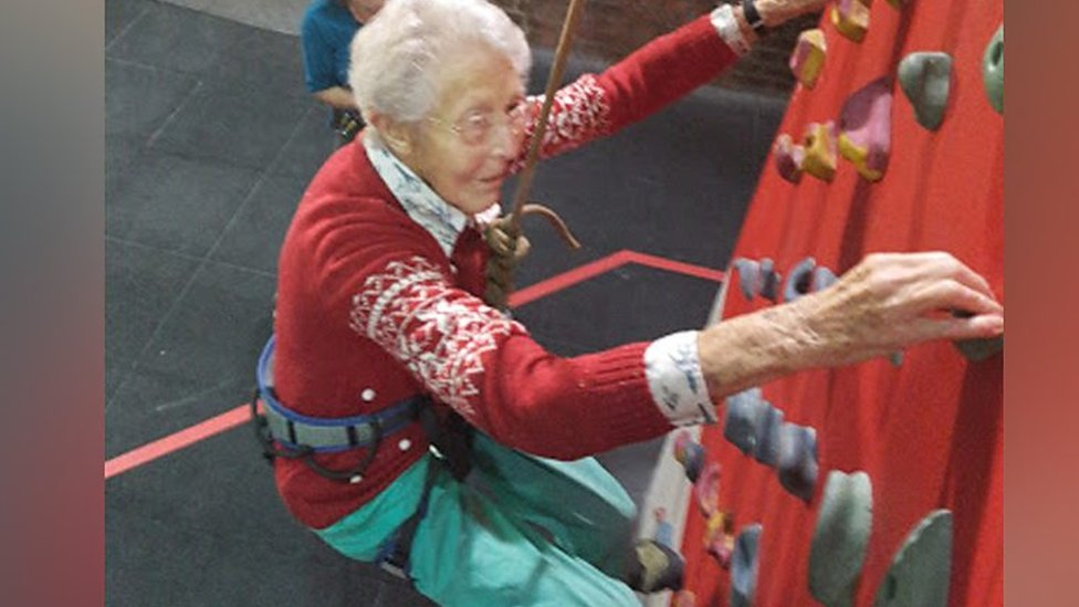 'Adventurous' Hatfield gran, 99, tackles climbing wall