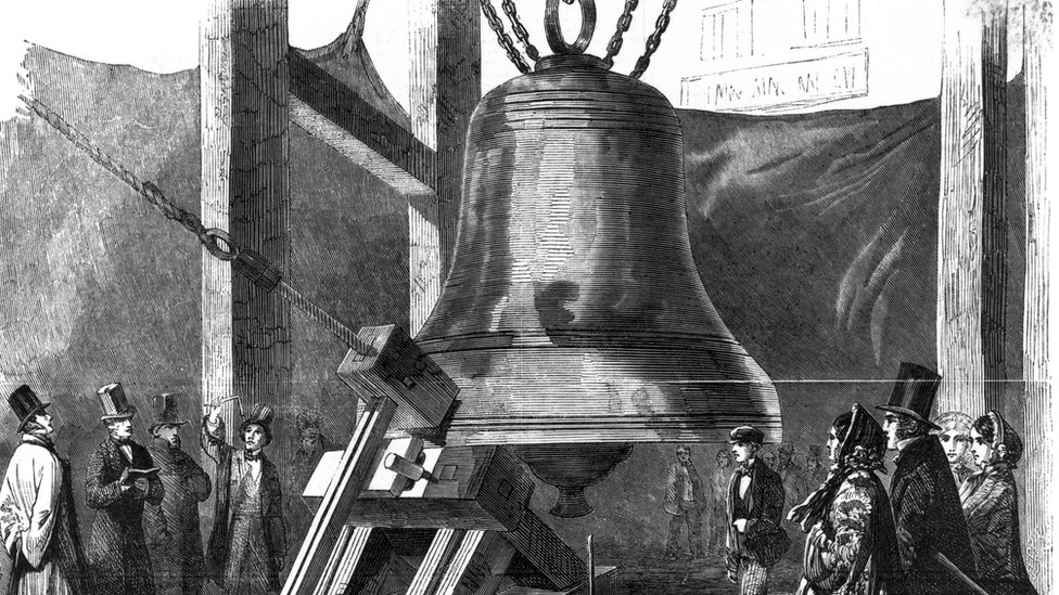 Big Ben bells being tested