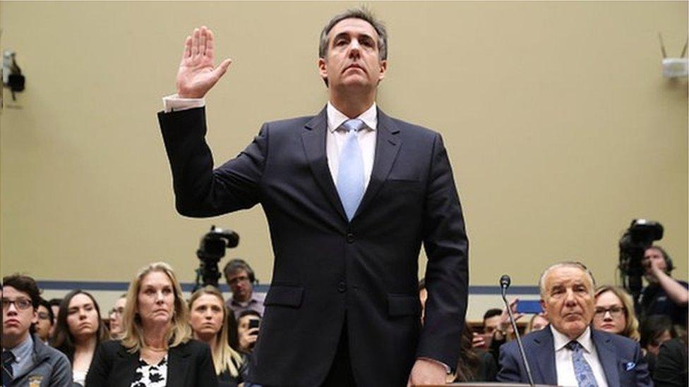 特朗普的前任私人律師在國會上作證