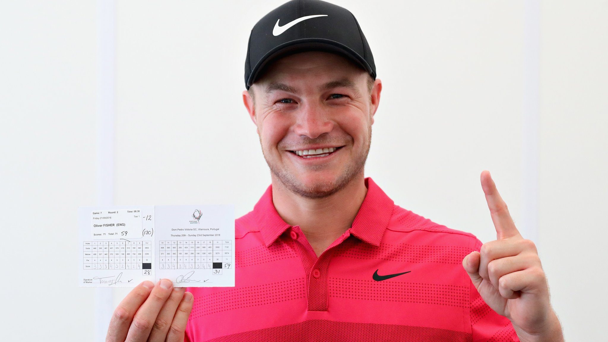 Oliver Fisher: English golfer 'feels great' after carding first 59 on European Tour