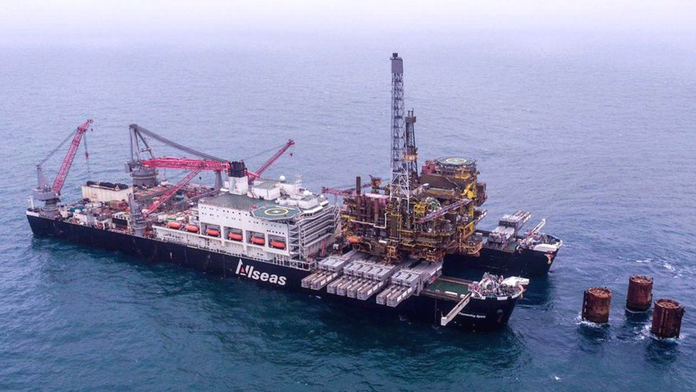 Second platform leaves iconic Brent oil field in North Sea