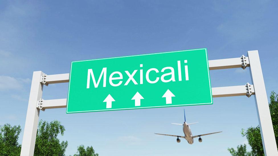 """Cartel con el nombre """"Mexicali"""""""