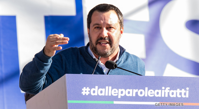 Interior Minister Matteo Salvini of the League