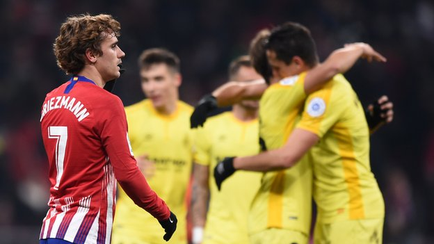 Girona shock Atletico Madrid in Copa del Rey, Real lose but progress