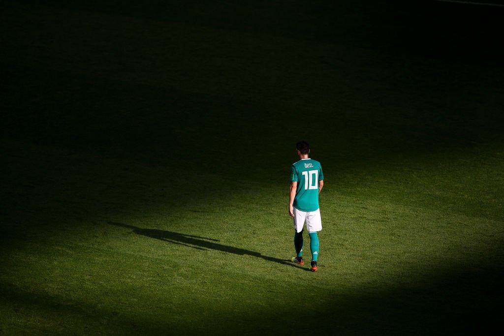 Özil tras la eliminación de Alemania de Rusia 2018.