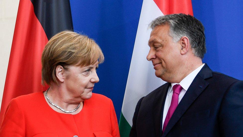 Merkel and Orban