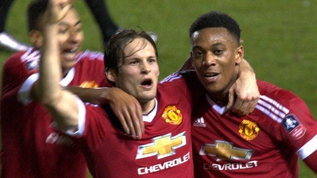 Man Utd regain lead over Derby through Daley Blind