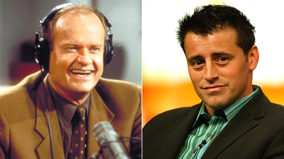 Kelsey Grammar and Matt LeBlanc