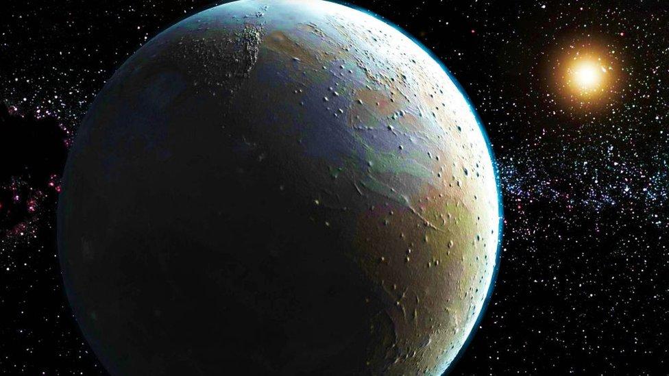 Plutón, en una composición artística.