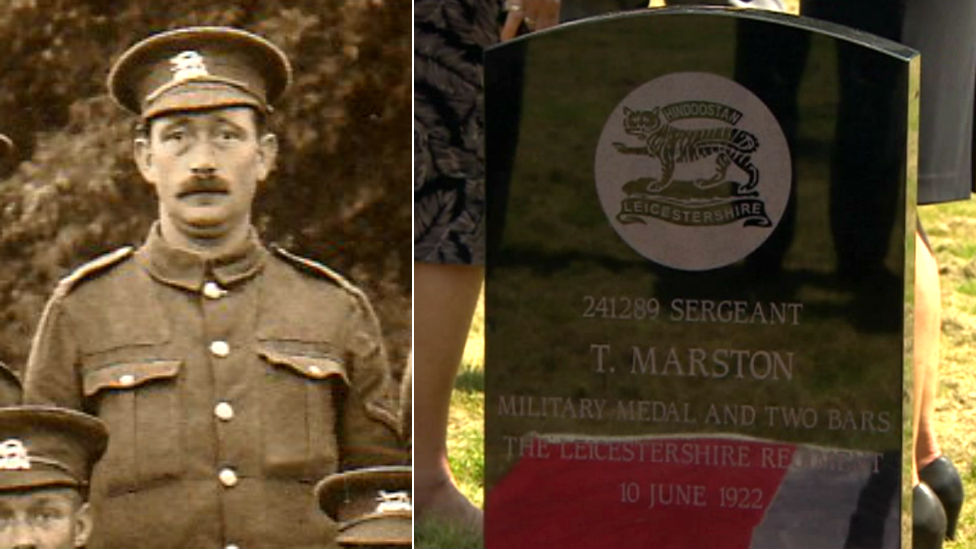 Sgt Thomas Marston MM headstone