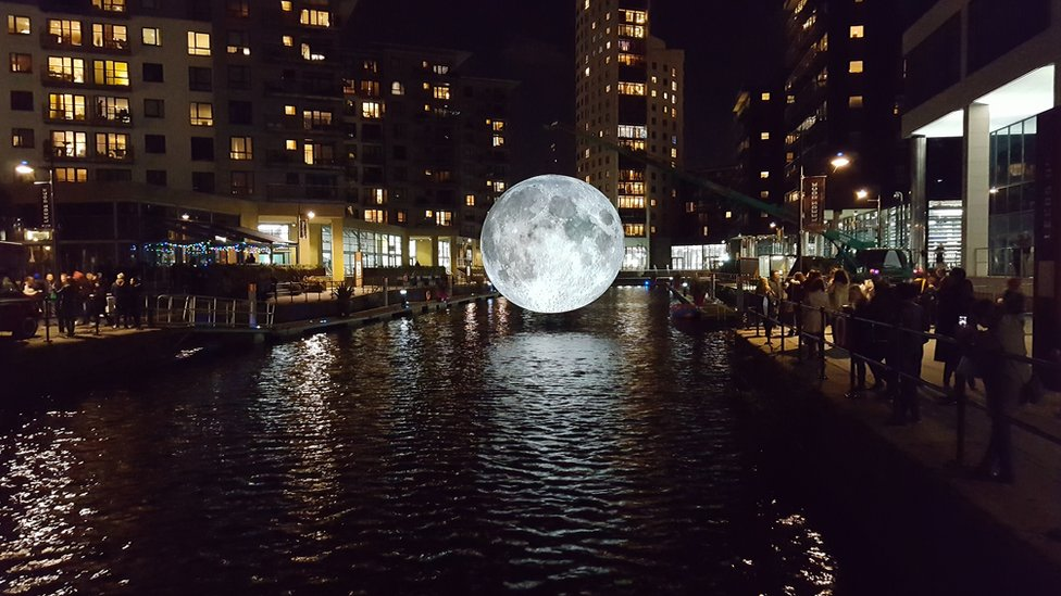 The stunning Museum of the Moon at Leeds Dock