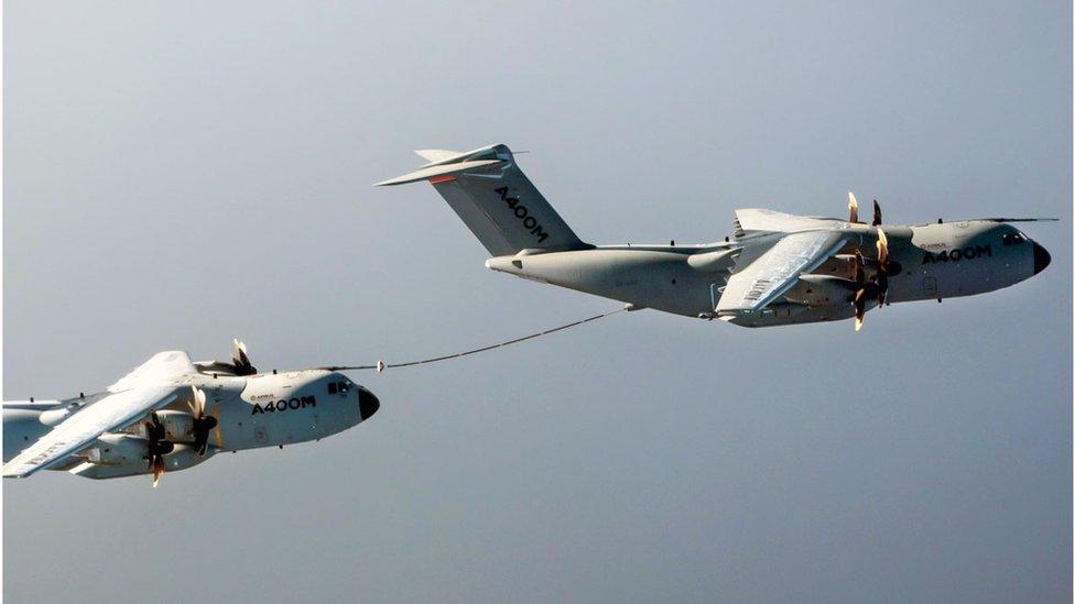 Cobham's midair refuelling of planes technology