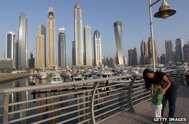 Dubai skyline, 2012