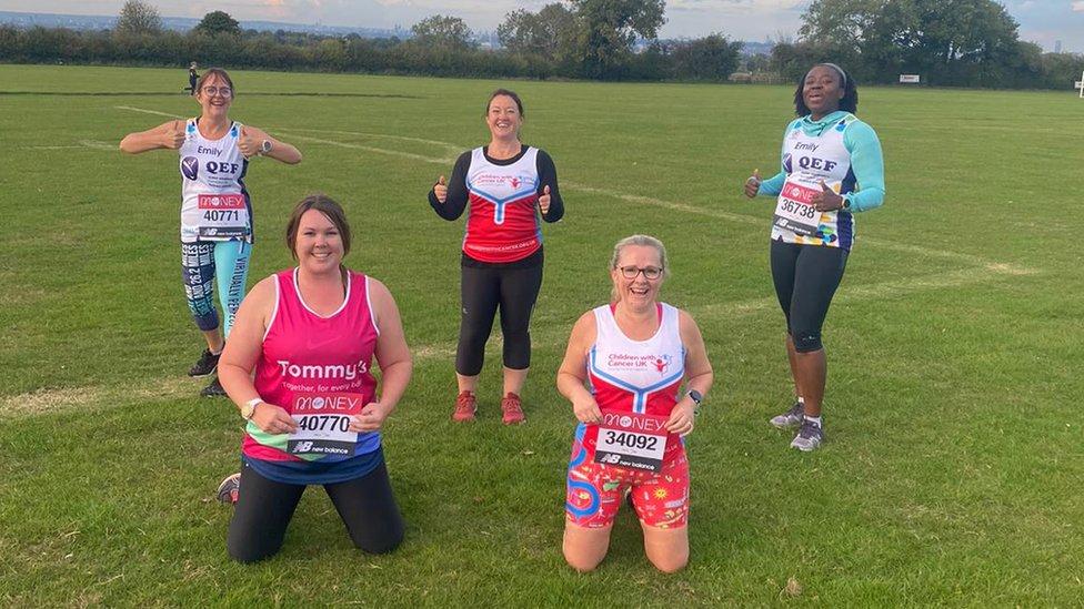 From left: Emily Sneddon, Gemma Hinckley, Louise Owen, Sue Flynn and Emily Odoi