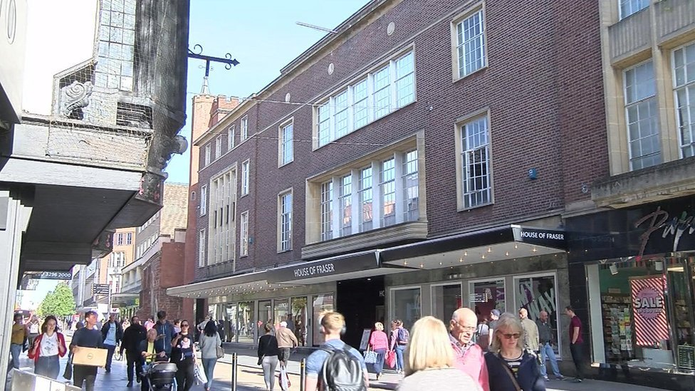 House of Fraser Exeter to stay open