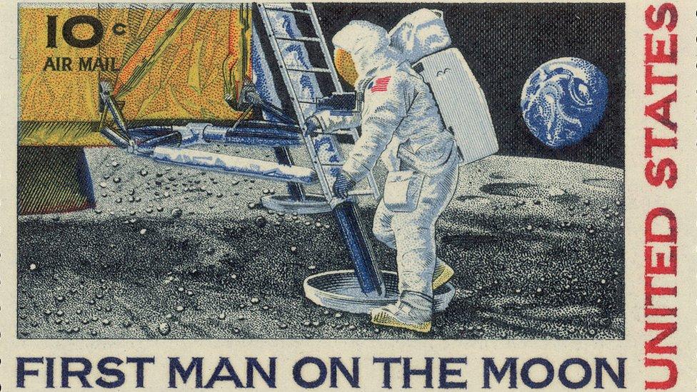 Estampilla del Apolo 11.