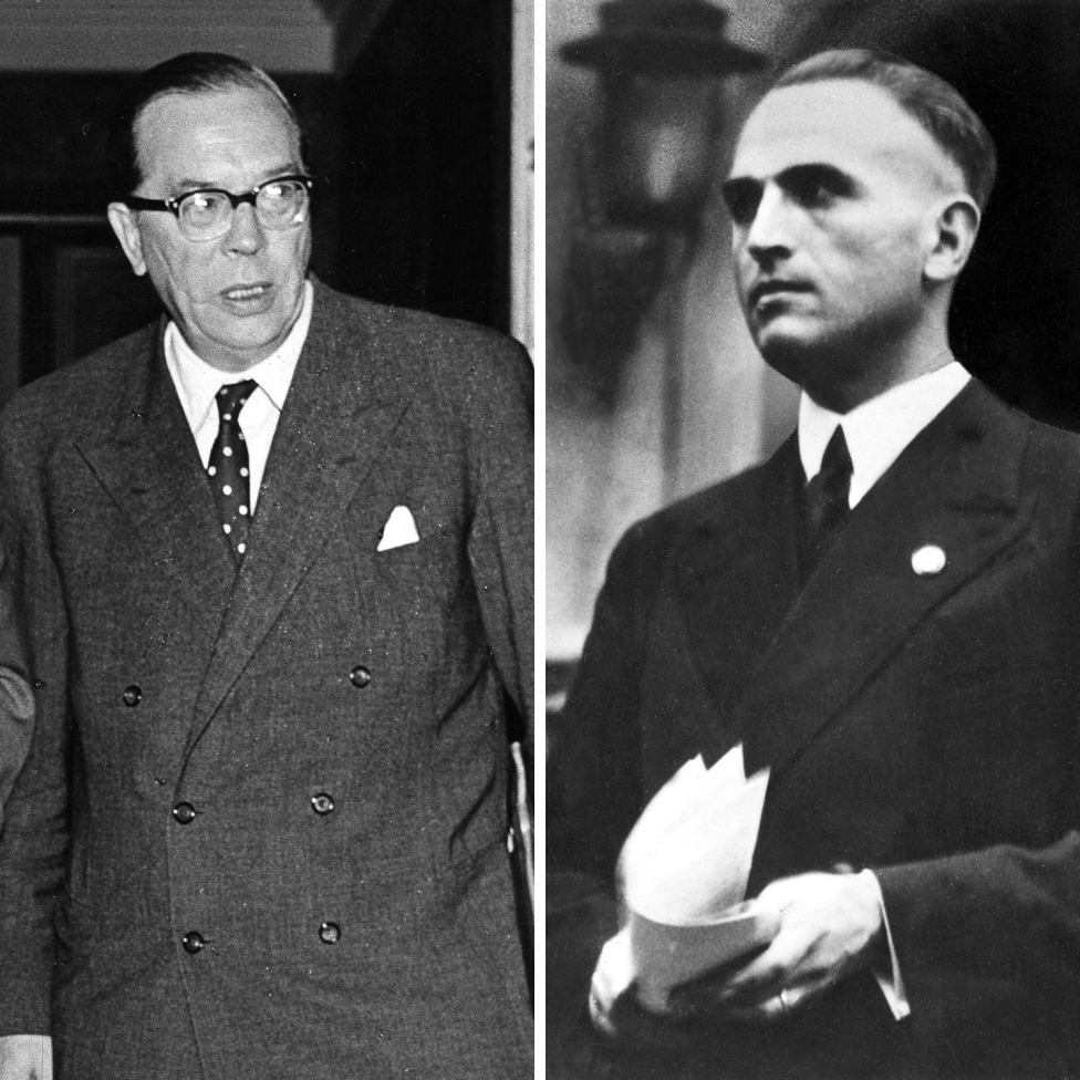 Georg Dakvic (levo) i Verner Best