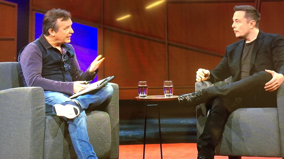 Chris Anderson and Elon Musk