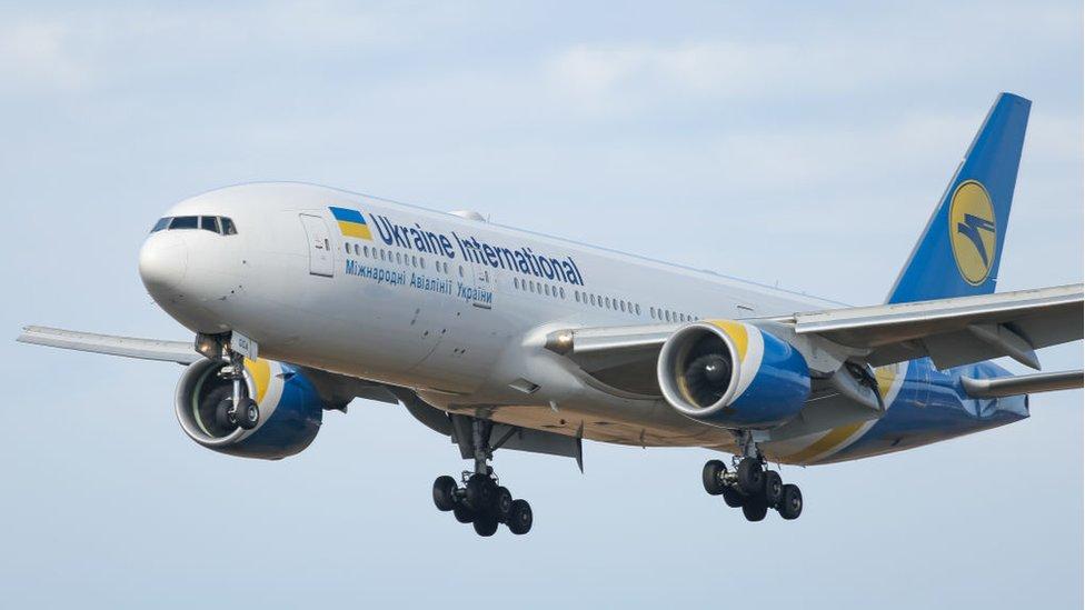 Ukraine International plane