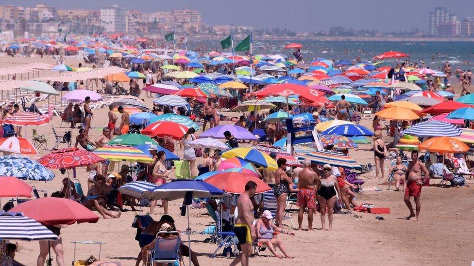 Praia perto de Valencia, na Espanha