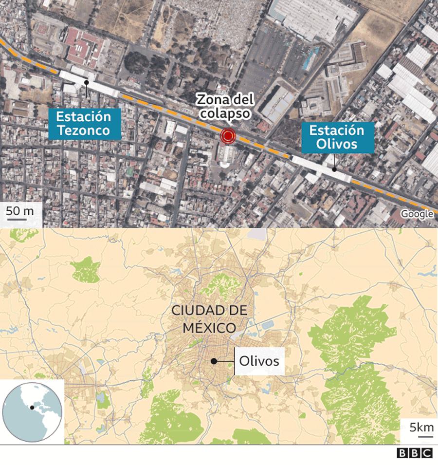 Map of the collapse site.