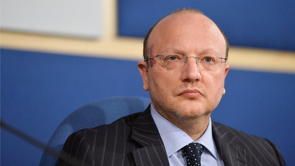 General Confederation of Italian Industry Chairman Vincenzo Boccia