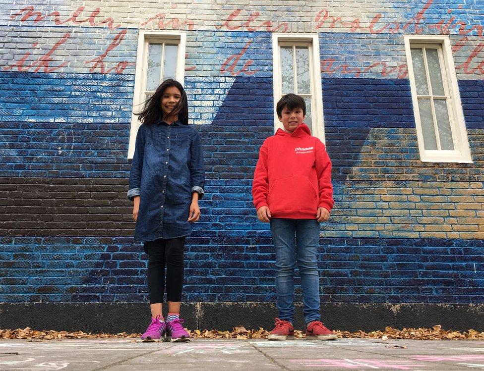 Zahara Belen Mackay and Sammy Neeter attend Anne Frank's old Montessori school - before the Nazis made all Jews attend Jewish schools.