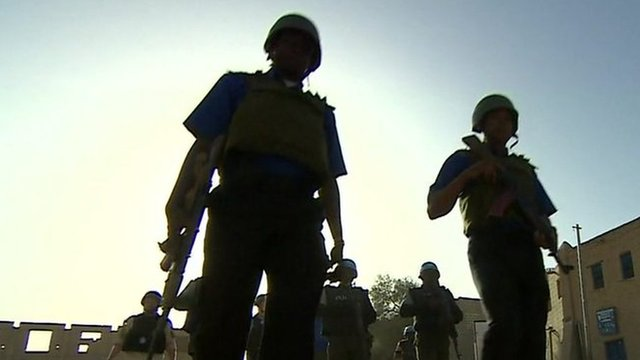 UN troops on the ground in Mali