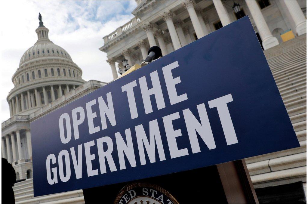 2019年初的美國,聯邦政府繼續關門