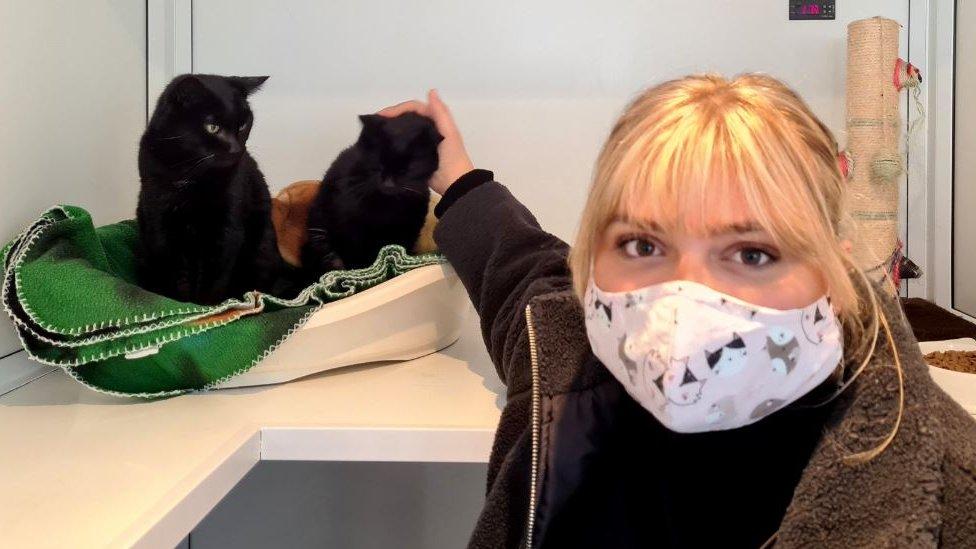 Lucy Marheineke with Leon and Nikita