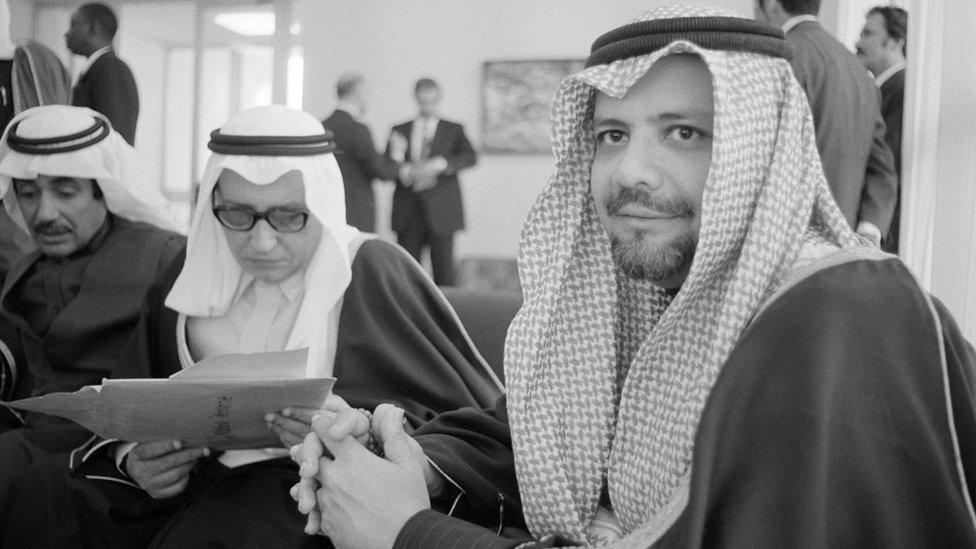 Yamani en una cumbre de la OPEP en 1975.