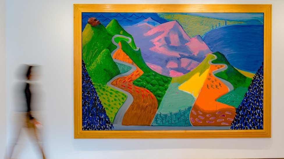 David Hockney painting's $28.5m sale smashes his auction record