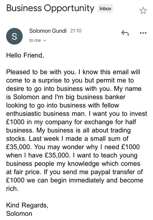 Solomon Gundi email