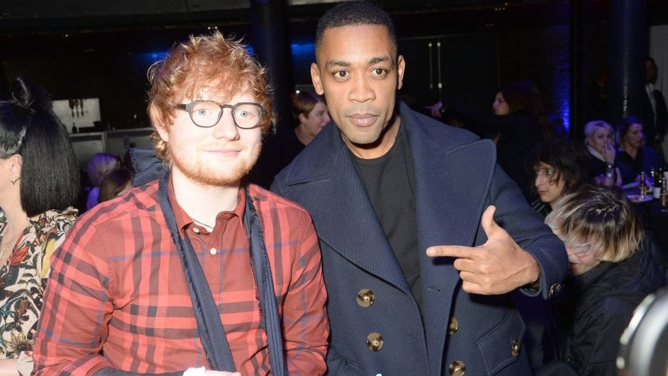 A photo of Ed Sheeran and Wiley
