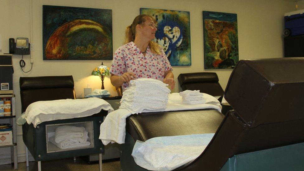 Sala de descanso para pacientes