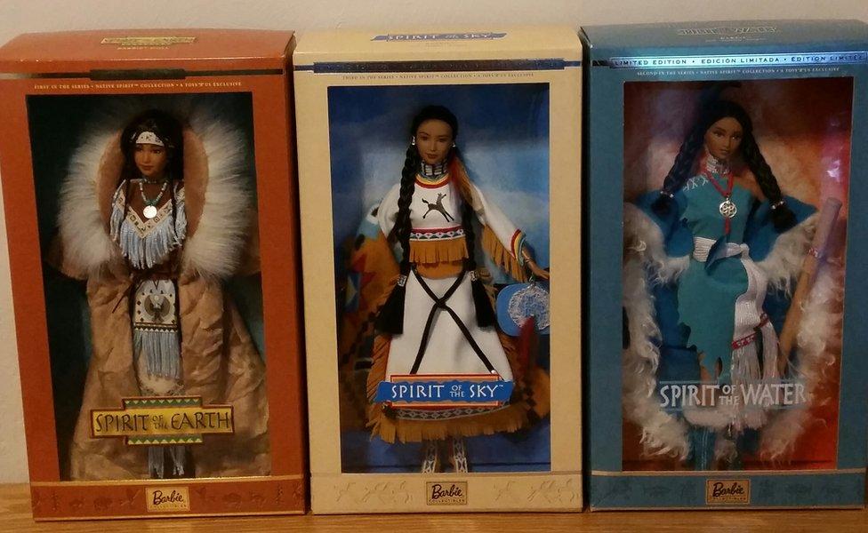Native American Barbie dolls