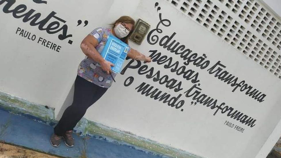 Agente do projeto Busca Ativa Escolar em Neópolis (SE)
