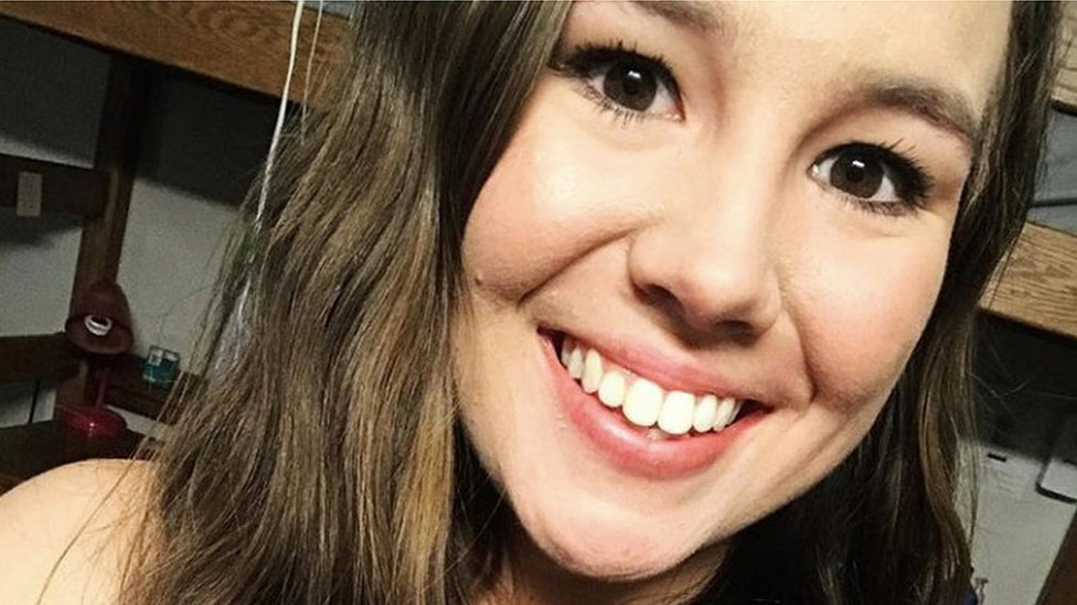 Mollie Tibbetts, an Iowa college student who went missing, appears in an undated photograph