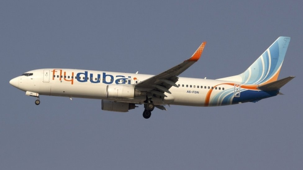 File picture of a FlyDubai plane, taken 13 February, 2014