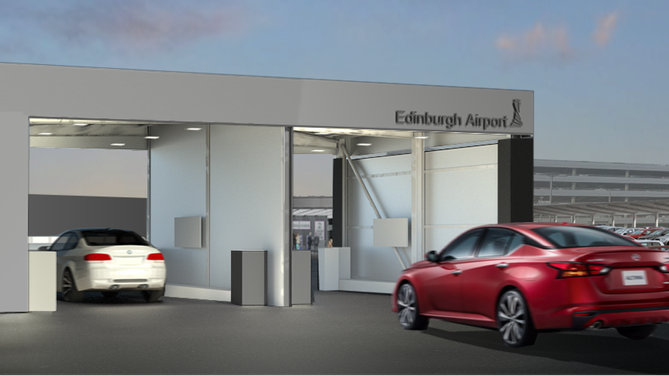 Digital valet parking plan for Edinburgh airport