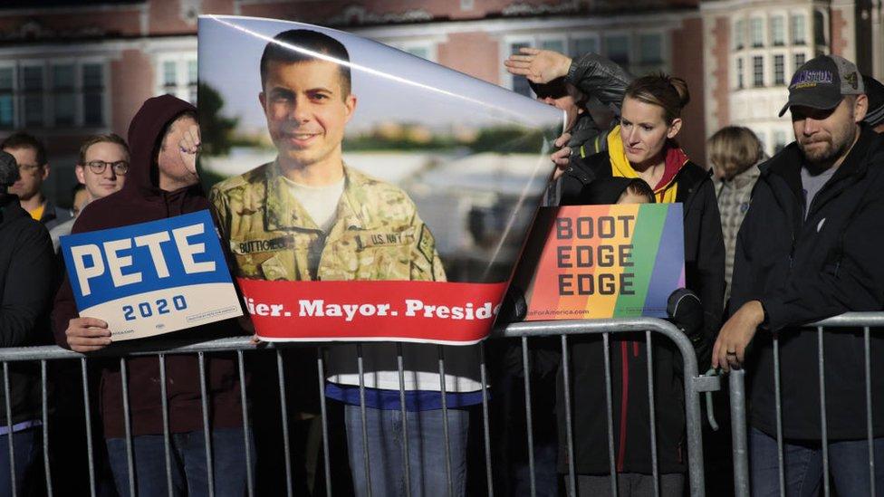 Buttigieg es veterano de la guerra de Afganistán.