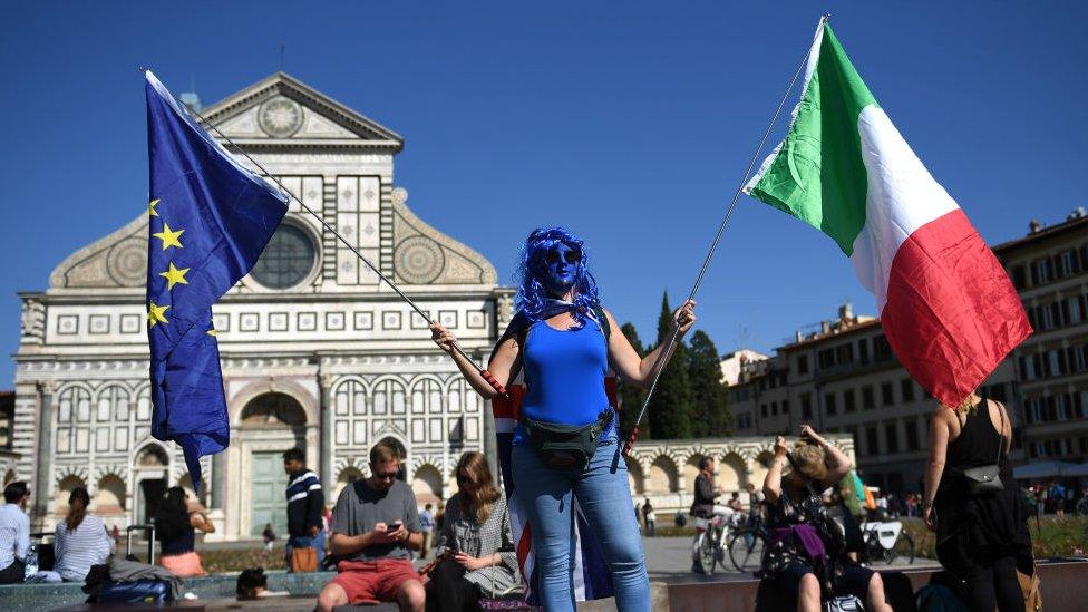 Proevropski Italijan u Firenci, septembar 2017