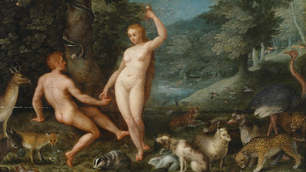 Hollandalı Rönesans ressamı Brueghel'in betimlediği Adem ve Havva'nın hikayesi, Darwin öncesinde Batı toplumlarında insanların kökeni konusundaki baskın fikirdi