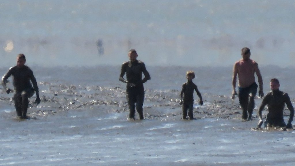 Family rescued from mudflats on Somerset beach