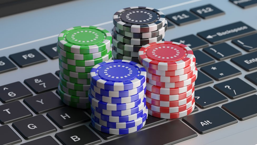 Betting chips on a keyboard