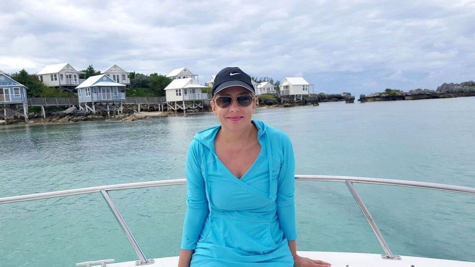 Sadie Millard en Barbados.