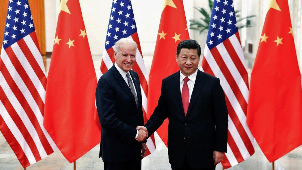 Joe Biden y Xi Jinping (Foto de archivo)