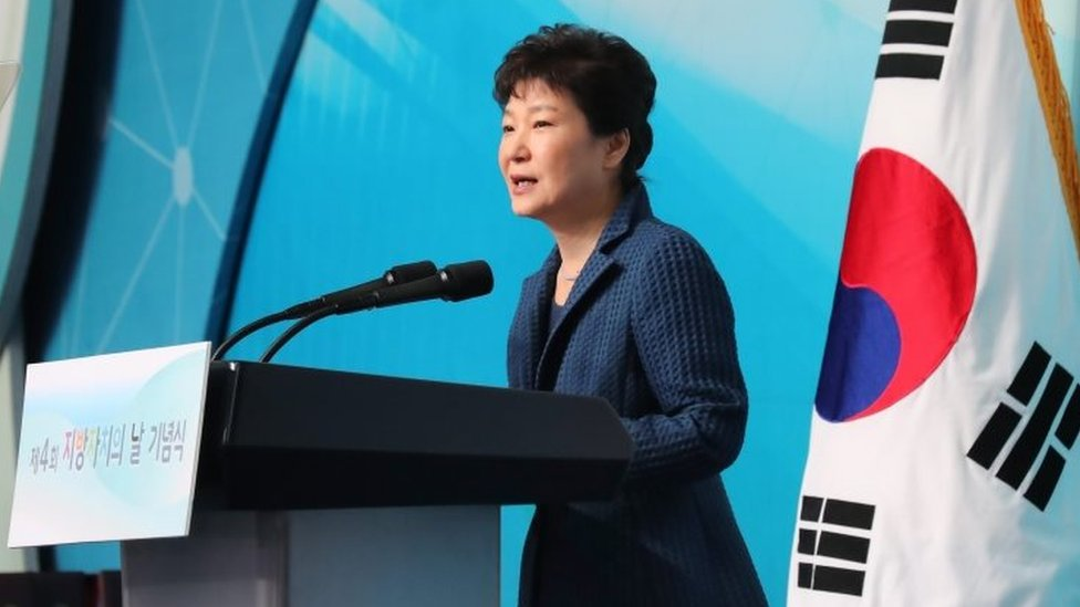 South Korean President Park Geun-hye. Photo: 27 October 2016