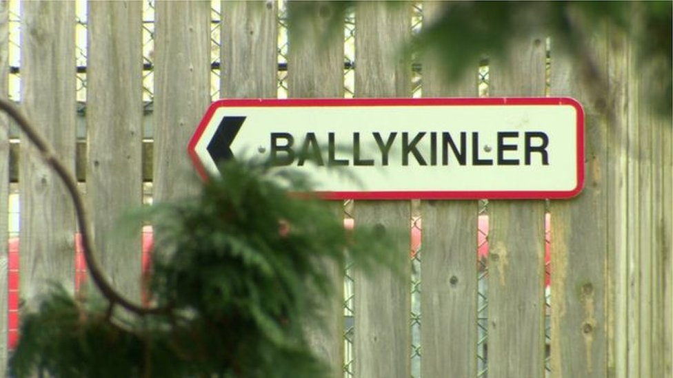 Ballykinler Army base sign